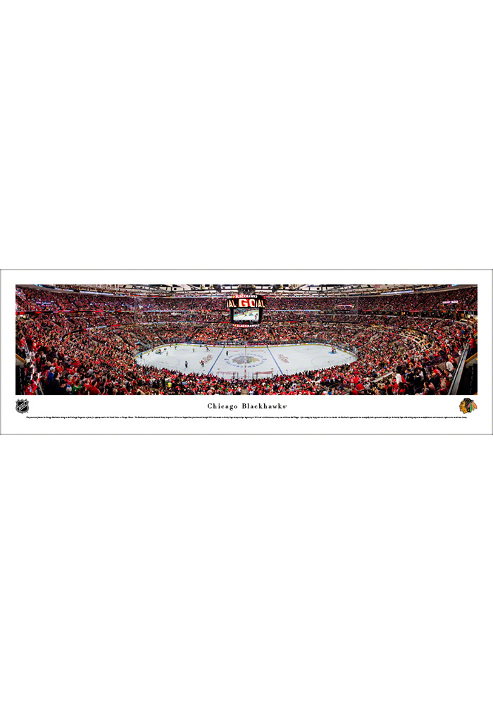 Chicago Blackhawks United Center Tubed Unframed Poster - Image 1