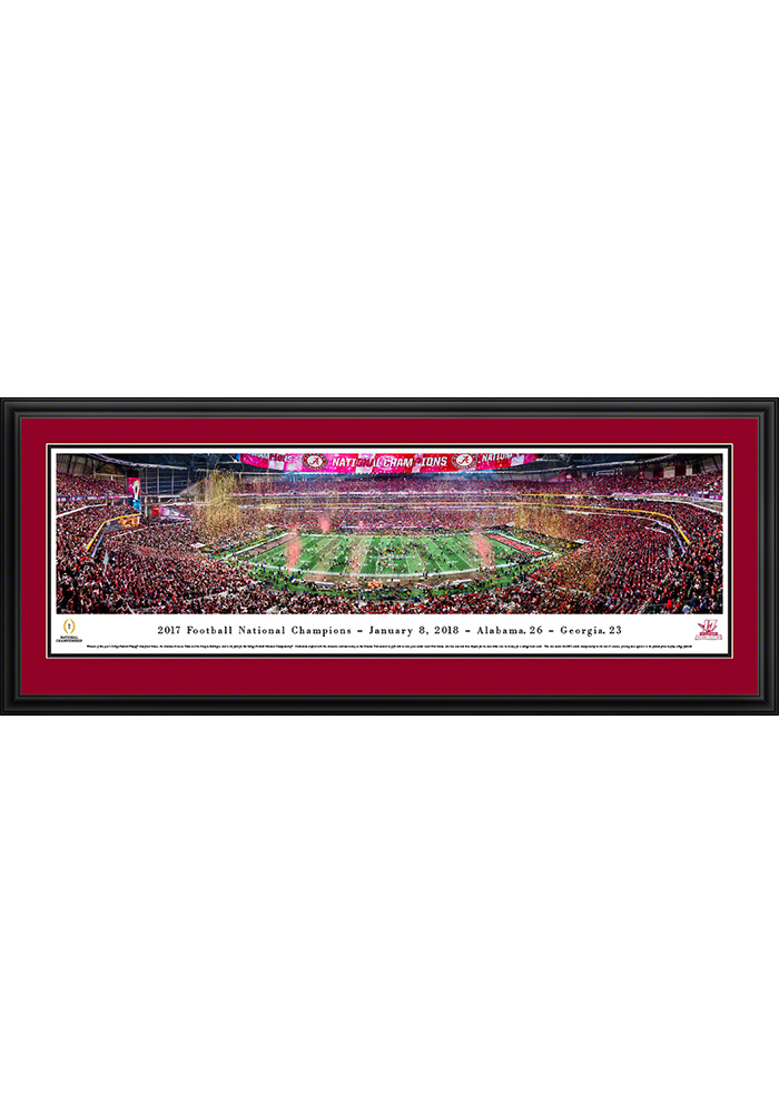 Alabama Crimson Tide 2017 Football National Champions Deluxe Framed Posters - Image 1