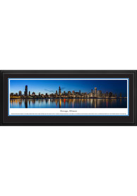Chicago Shoreline at Night Deluxe Framed Posters