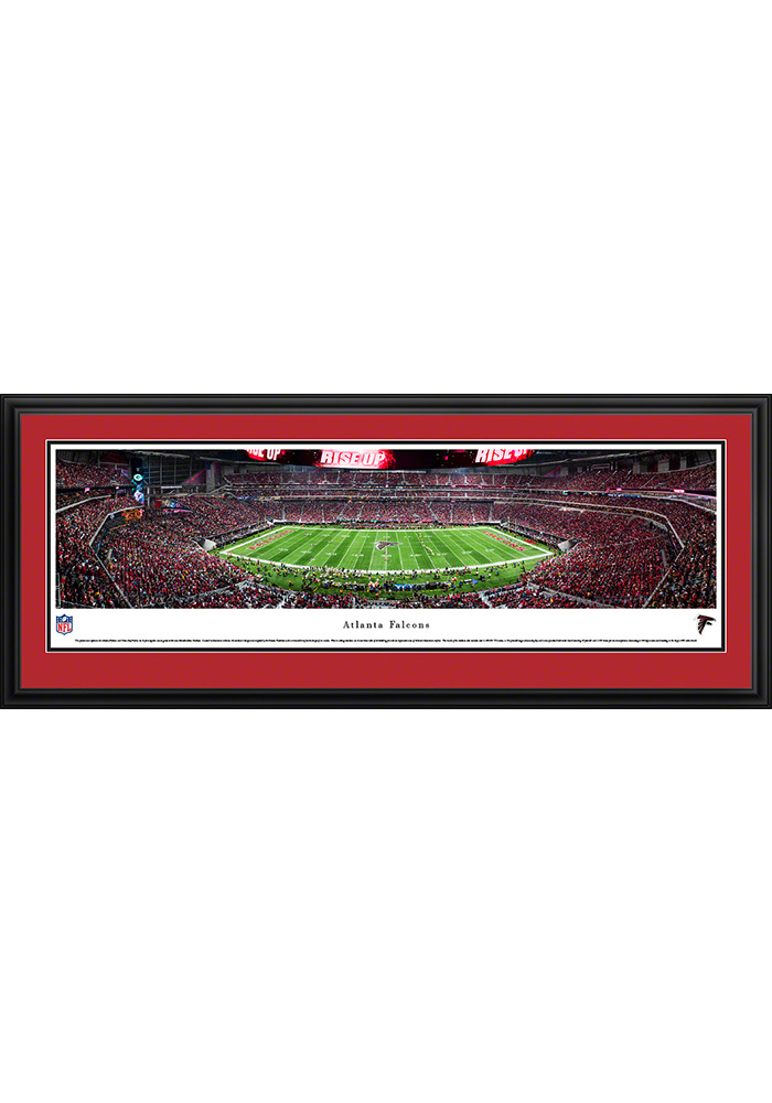 Atlanta Falcons 1st Game at Mercedes-Benz Stadium Deluxe Framed Posters - Image 1
