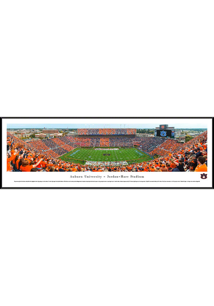 Auburn Tigers Football Stripe Standard Framed Posters - Image 1