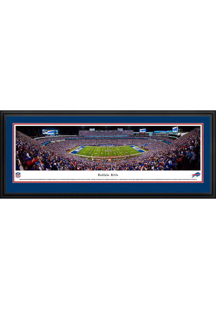 Buffalo Bills Football Night Game Deluxe Framed Posters - Image 1