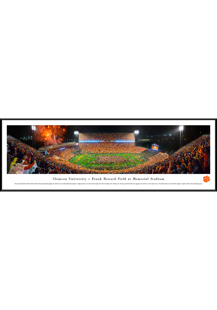Clemson Tigers Football Night Game Standard Framed Posters - Image 1