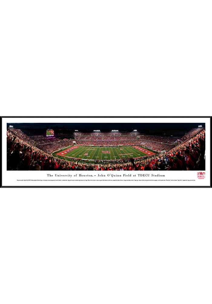 Houston Cougars Football Night Game Standard Framed Posters
