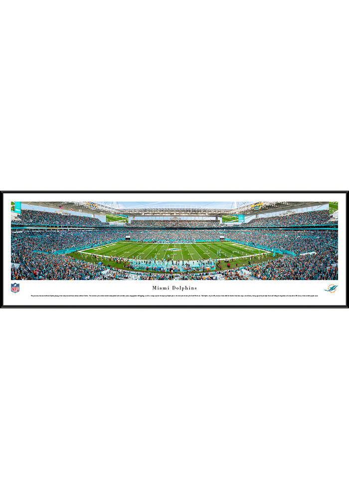 Miami Dolphins 50 Yard Line Standard Framed Posters - Image 1