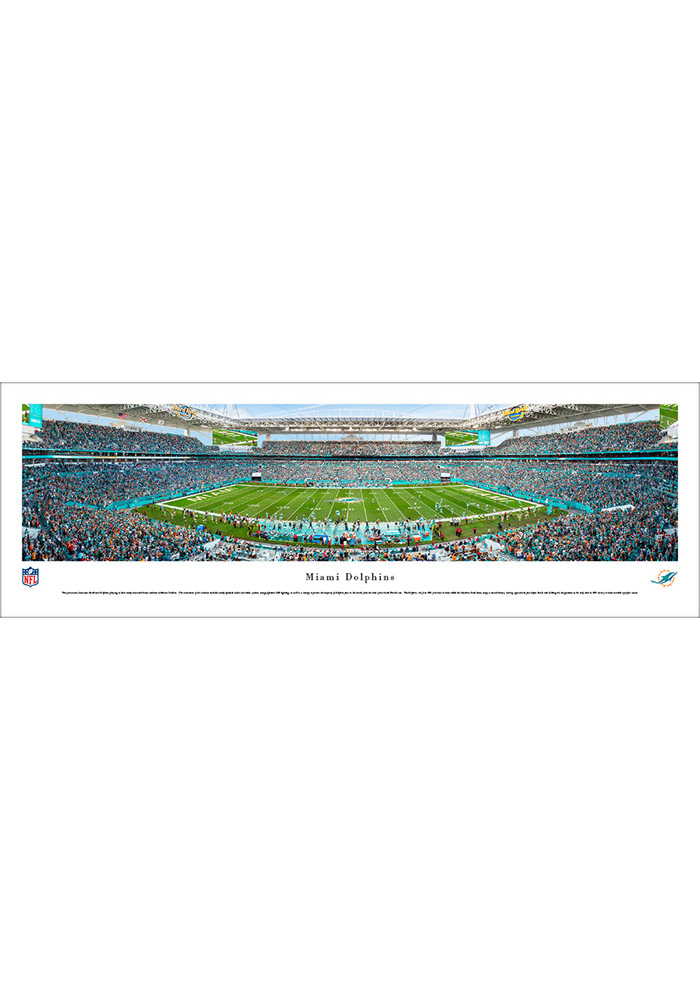 Miami Dolphins 50 Yard Line Unframed Unframed Poster - Image 1