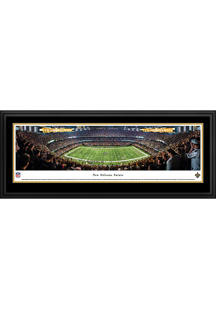 New Orleans Saints 50 Yard Line Deluxe Framed Posters - Image 1