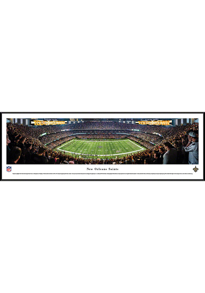 New Orleans Saints 50 Yard Line Standard Framed Posters - Image 1