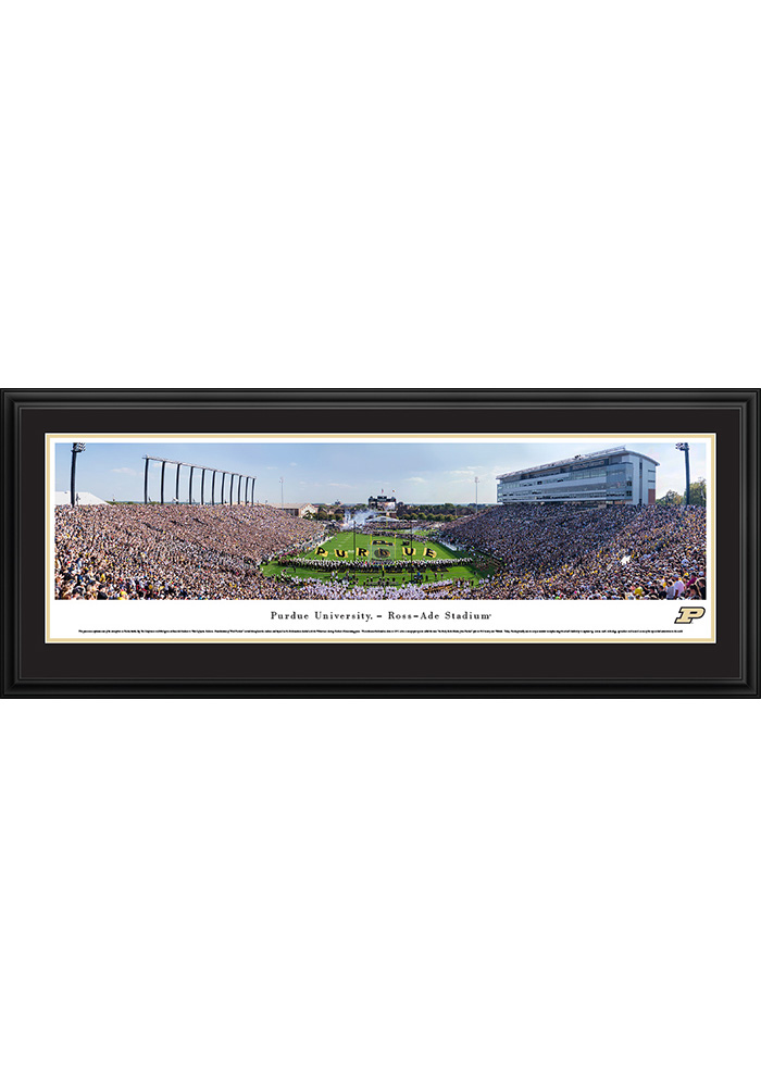 Purdue Boilermakers End Zone Deluxe Framed Posters - Image 1
