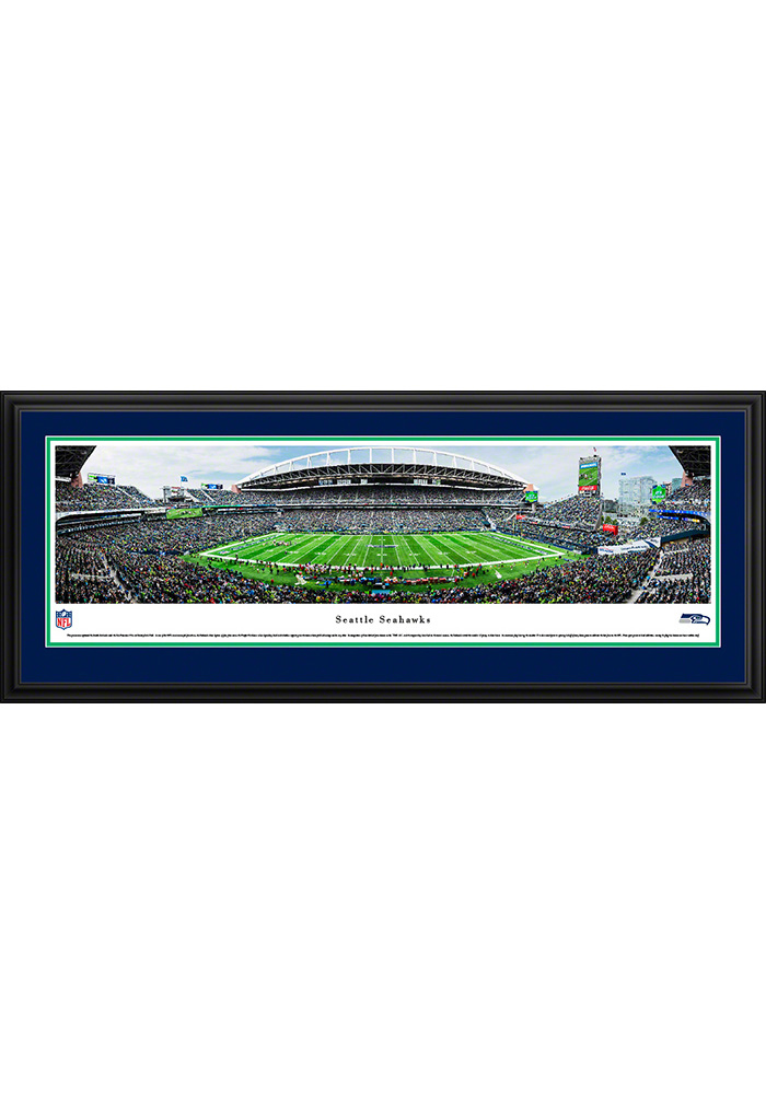 Seattle Seahawks 50 Yard Line Deluxe Framed Posters - Image 1