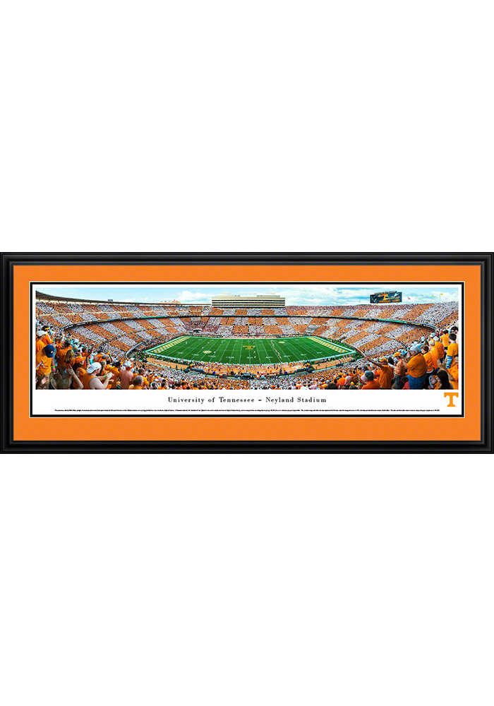 Tennessee Volunteers Football Checkerboard Deluxe Framed Posters - Image 1
