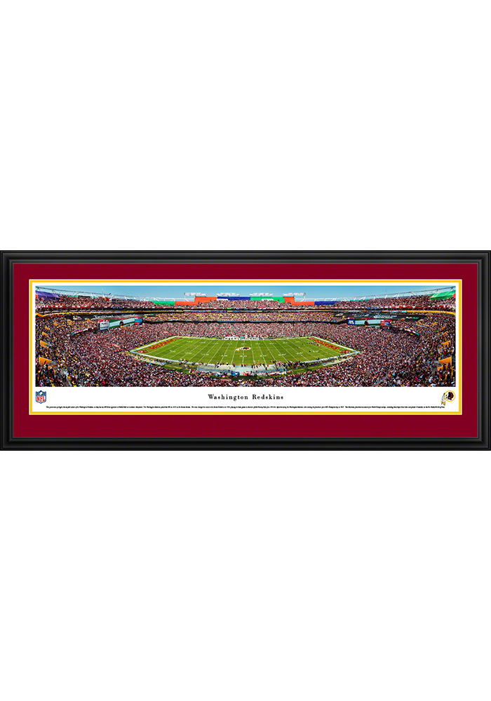 Washington Redskins Football Night Game Deluxe Framed Posters - Image 1