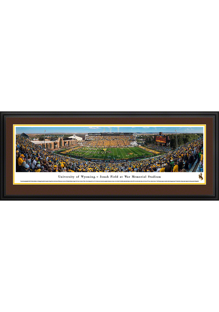 Wyoming Cowboys Football Deluxe Framed Posters