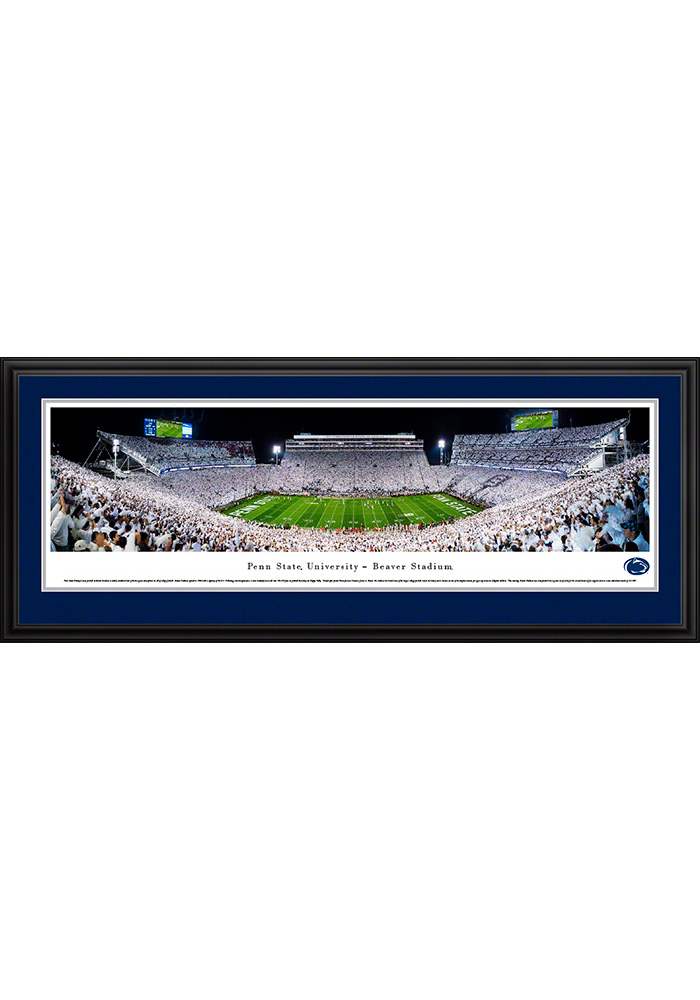 Penn State Nittany Lions White Out Beaver Stadium Deluxe Framed Posters - Image 1