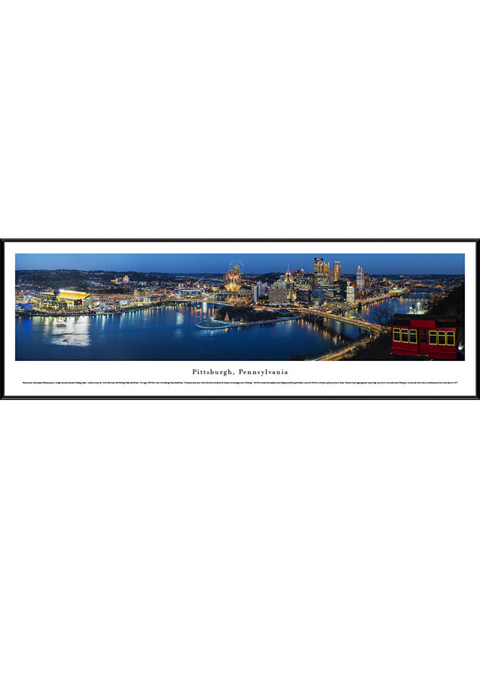 Pennsylvania Panoramic Skyline Framed Posters - Image 1