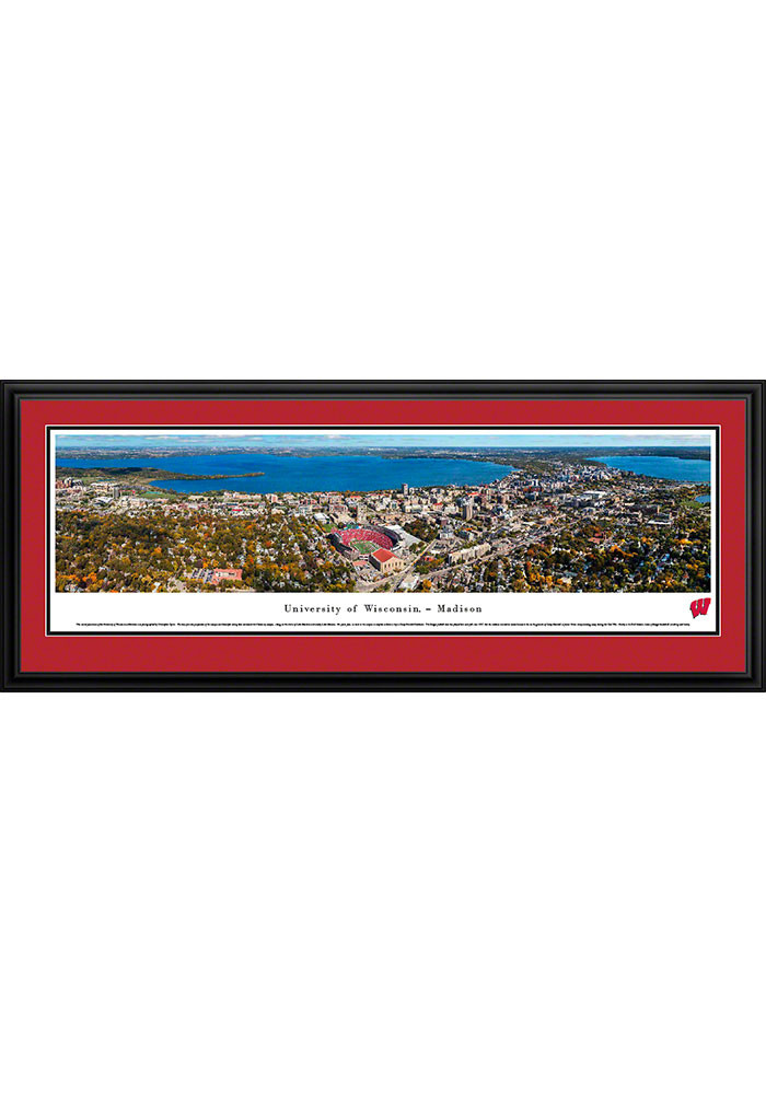 Wisconsin Badgers Camp Randall Stadium Aerial Deluxe Framed Posters - Image 1