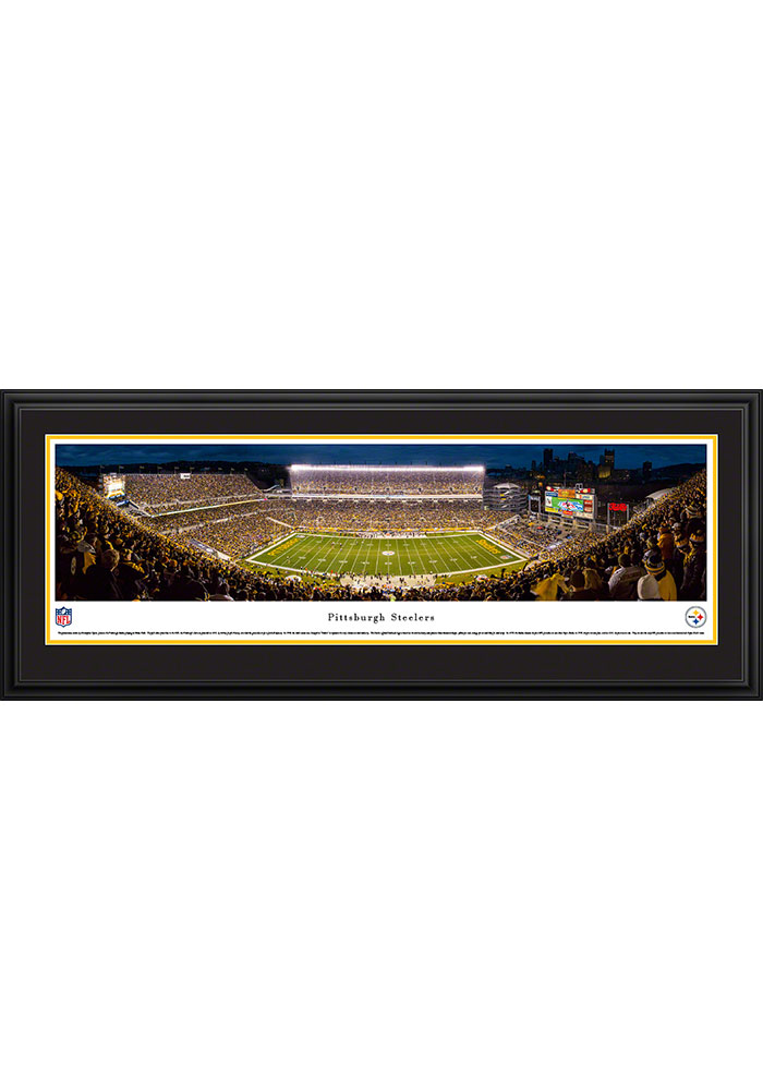 Pittsburgh Steelers Heinz Field Stadium At Night Deluxe Framed Posters - Image 1