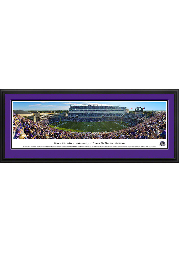 TCU Horned Frogs Amon Carter Stadium Deluxe Framed Posters - Image 1
