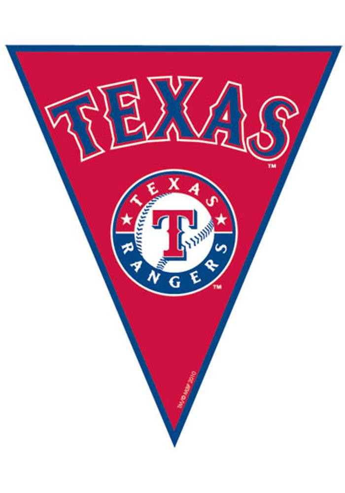 Texas Rangers 12x10 12 Pack Pennant Streamers - Image 1
