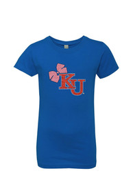 Kansas Jayhawks Girls Blue Youth Girls Ava T-Shirt