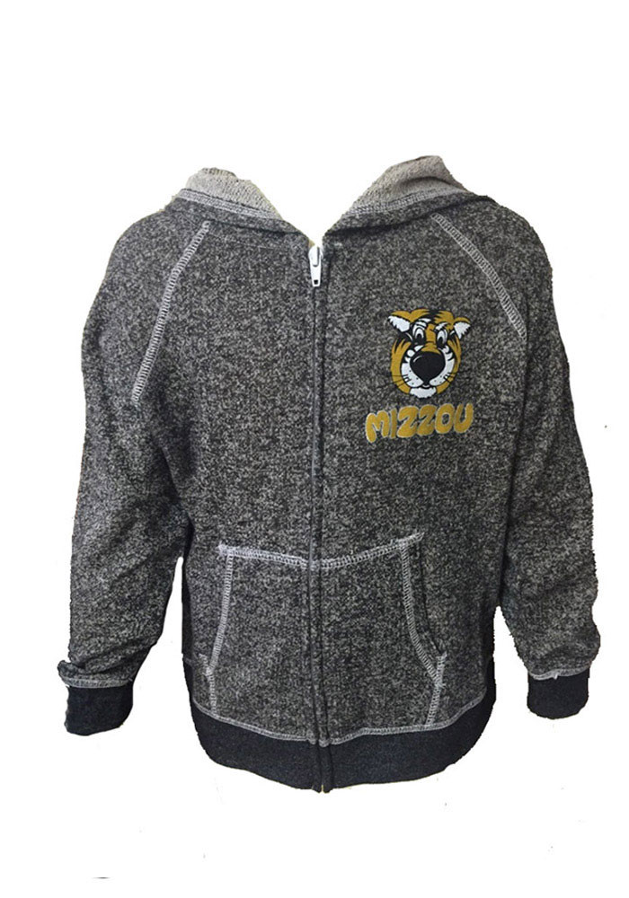 Missouri Tigers Girls Black Youth Girls Piper Long Sleeve Full Zip Jacket - Image 1
