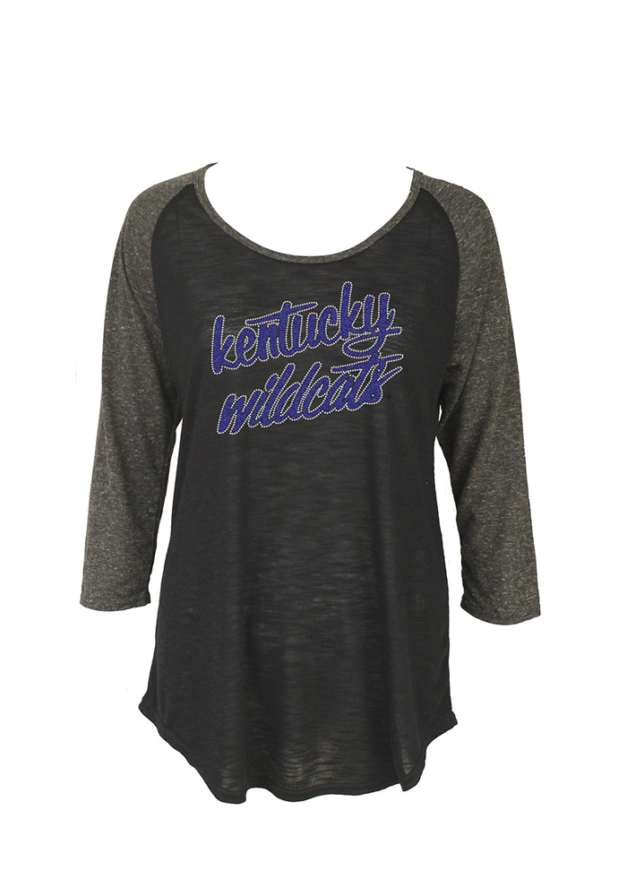 Kentucky Wildcats Womens Black Lauren Long Sleeve Women's Scoop - Image 1