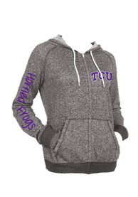 TCU Horned Frogs Womens Stephanie Full Zip Jacket - Black