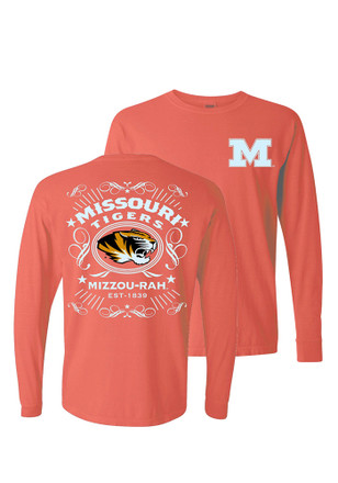 Mizzou Tigers Womens Tradition Alive Orange LS Tee