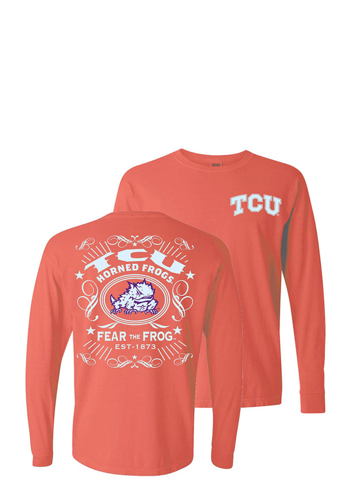 TCU Horned Frogs Womens Orange Tradition Alive LS Tee - Image 1