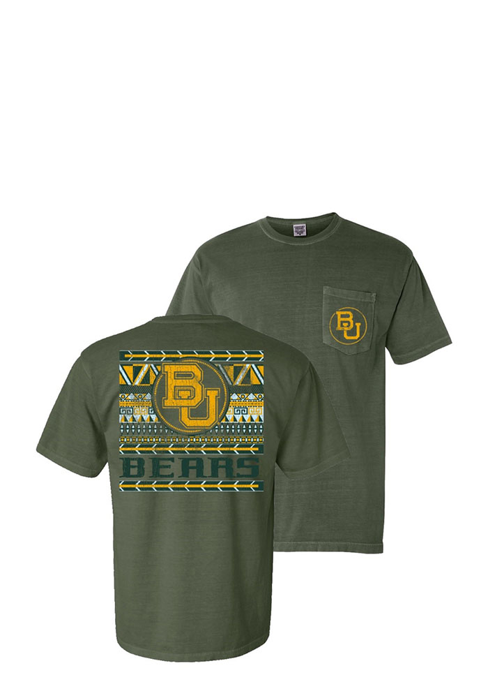 Baylor Bears Womens Green Comfort Color Short Sleeve Unisex Tee - Image 1