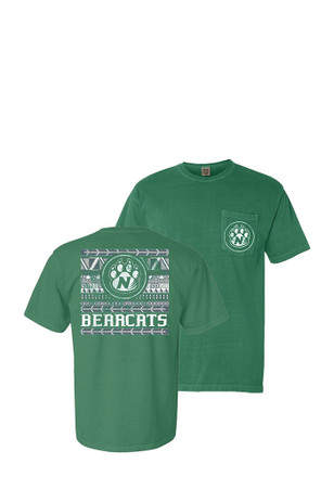 Northwest Missouri State Bearcats Womens Green Comfort Color Unisex Tee