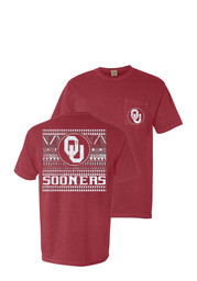 Oklahoma Sooners Womens Red Comfort Color Unisex Tee
