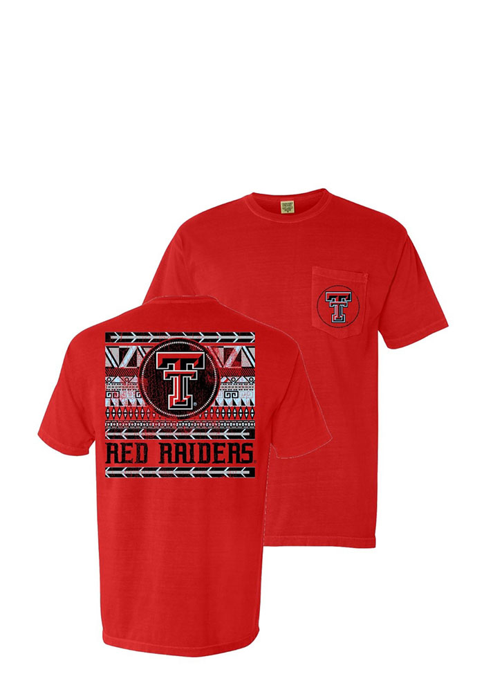 Texas Tech Red Raiders Womens Red Comfort Color Short Sleeve Unisex Tee - Image 1