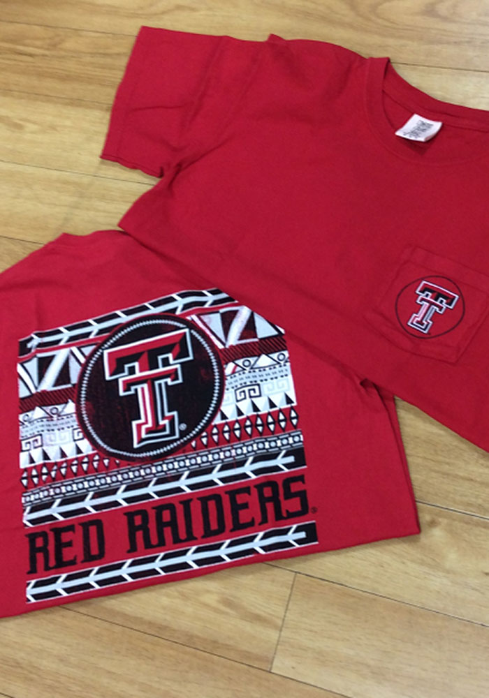 Texas Tech Red Raiders Womens Red Comfort Color Short Sleeve Unisex Tee - Image 2