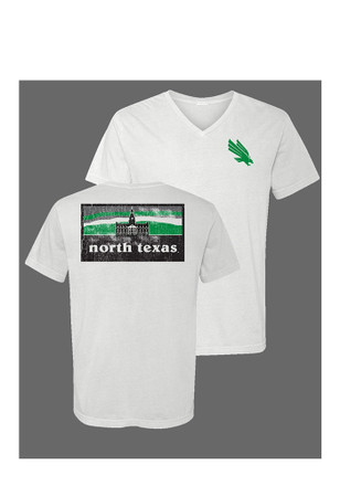 North Texas Mean Green Womens White Campus Inspired Unisex Tee