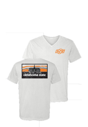 Oklahoma State Cowboys Womens White Campus Inspired Unisex Tee