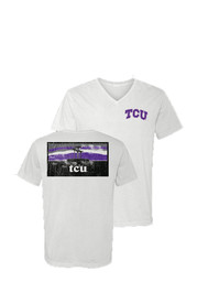 TCU Horned Frogs Womens White Campus Inspired Unisex Tee