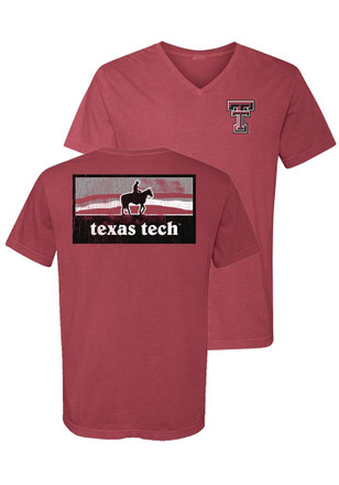 Texas Tech Red Raiders Womens Red Campus Inspired Unisex Tee