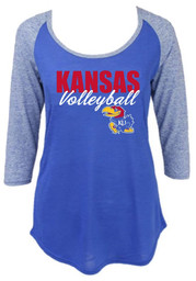Kansas Jayhawks Womens Lauren Blue Scoop Neck Tee