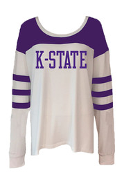 K-State Wildcats Womens White Kalynn Women's Scoop