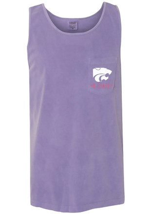 K-State Wildcats Womens Purple Circle Hearts Tank Top