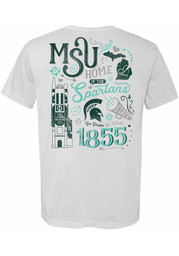 Michigan State Spartans Womens White Local Unisex Tee