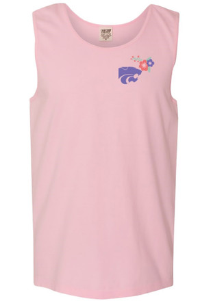 K-State Wildcats Womens Pink Floral Tank Top