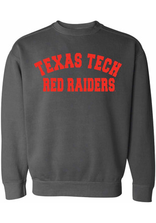 Texas Tech Red Raiders Womens Simple Grey Crew Sweatshirt