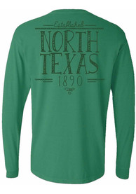North Texas Mean Green Womens Handwritten Green LS Tee
