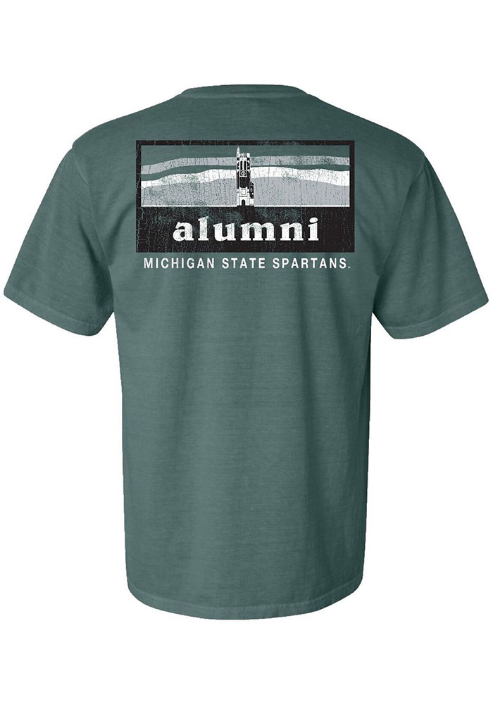 0869953e288 Michigan State Spartans Womens Green Alumni Short Sleeve T-Shirt - Image 1