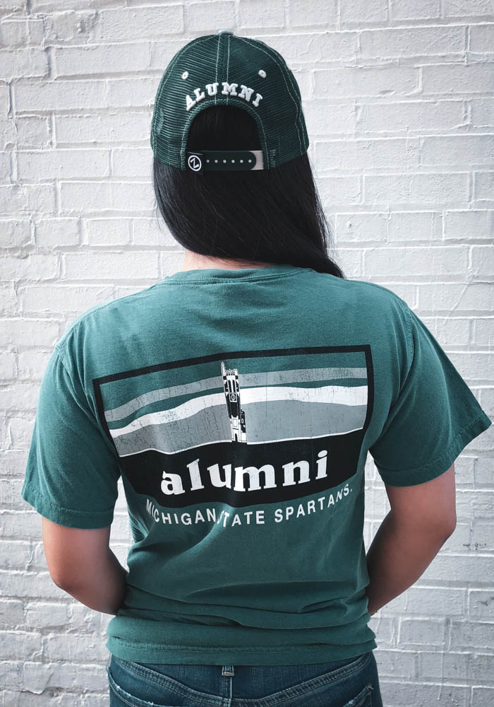 bb62003d47a Michigan State Spartans Womens Green Alumni Short Sleeve T-Shirt - Image 3