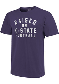 K-State Wildcats Womens Comfort Colors T-Shirt - Purple