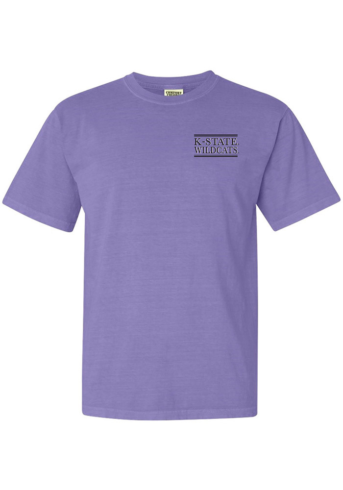 K-State Wildcats Womens Purple Comfort Colors Short Sleeve T-Shirt - Image 1