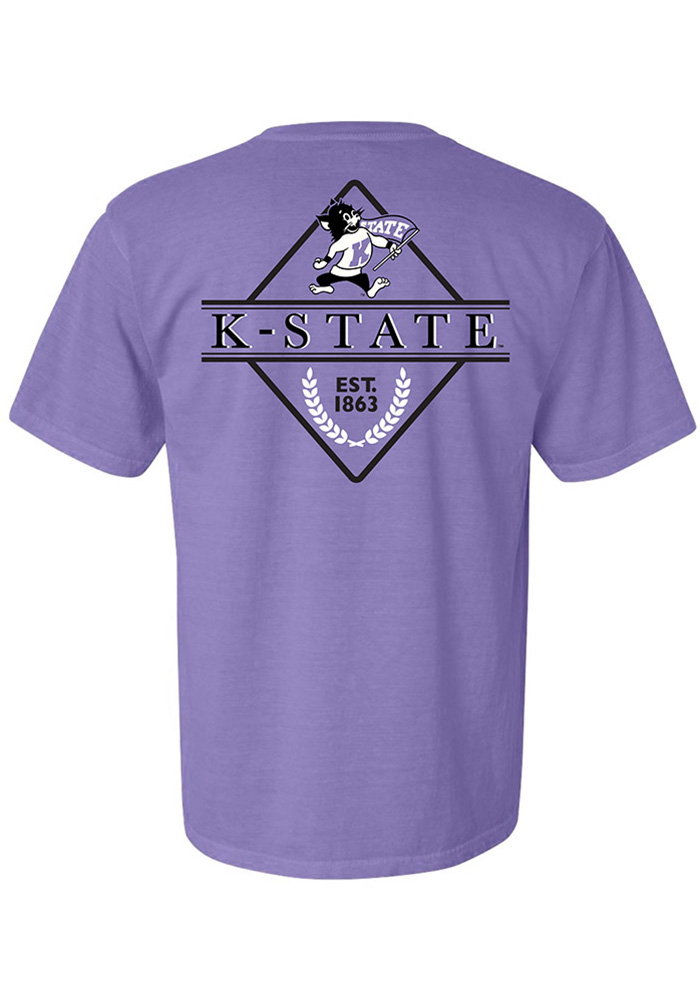 K-State Wildcats Womens Purple Comfort Colors Short Sleeve T-Shirt - Image 2